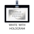 white with hologram
