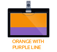 orange with purple line