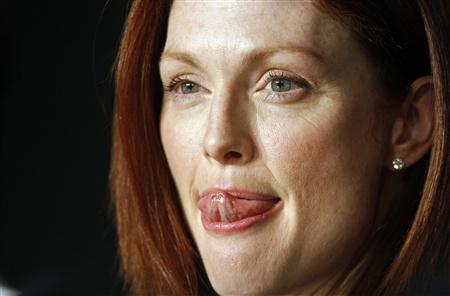 Julianne Moore durante uma conferência de imprensa para o filme BLINDNESS