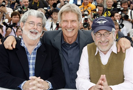 O trio maravilha de INDIANA JONES AND THE KINGDOM OF THE CRYSTAL SKULL