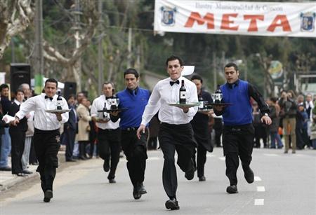 Waiters Running