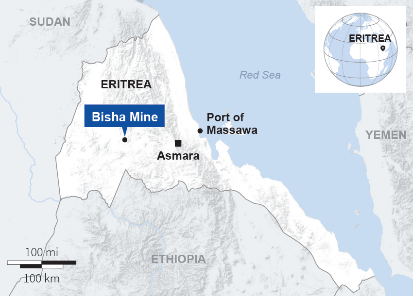 We were forced to work at Western-run mine, say Eritrean