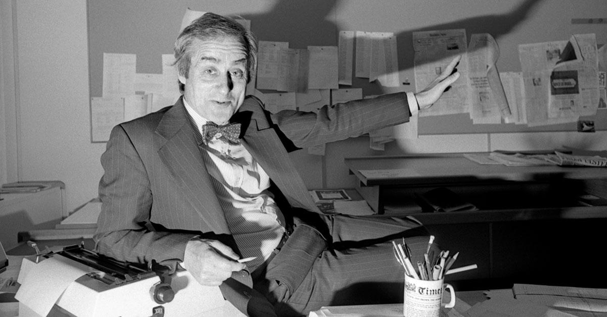 Sir Harold Evans, 1928-2020, set the gold standard for journalism. - Reuters