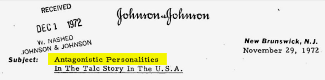 J&J knew for decades that asbestos lurked in its Baby Powder