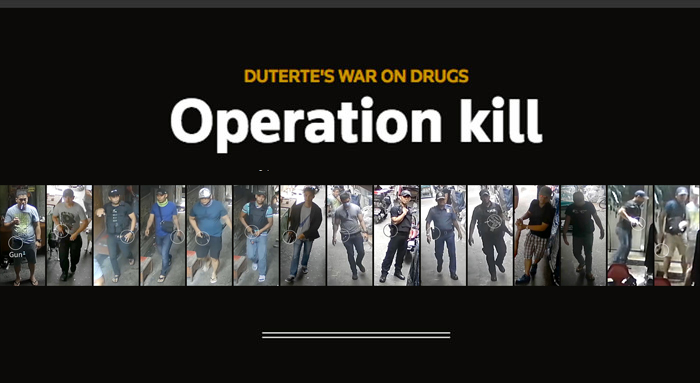 Manila police tell one story of a drug killing  Videos tell