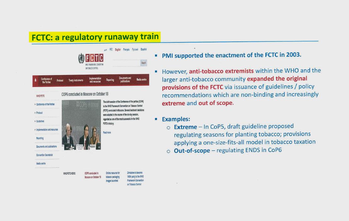 Inside Philip Morris Push To Subvert The Global Anti Smoking Treaty