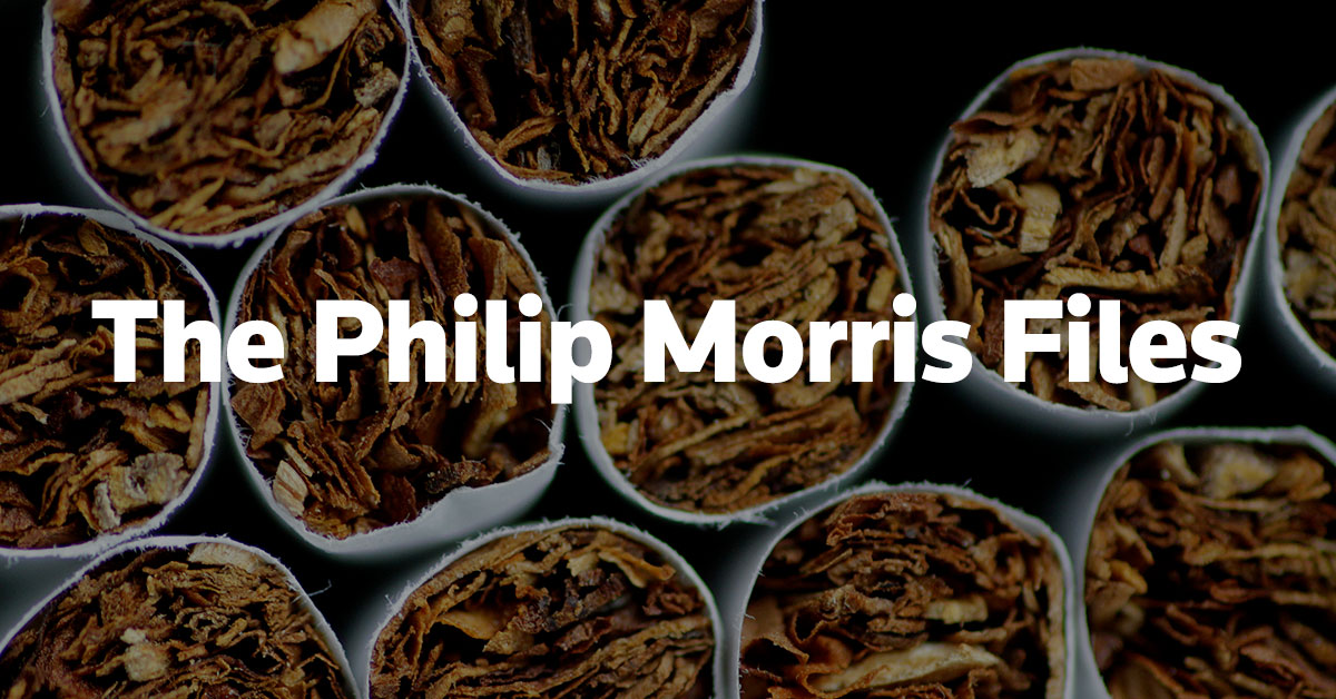 strategy at philip morris Letters: philip morris's overture to the nhs is part of a strategy to undermine controls on tobacco, says sandra mullin.
