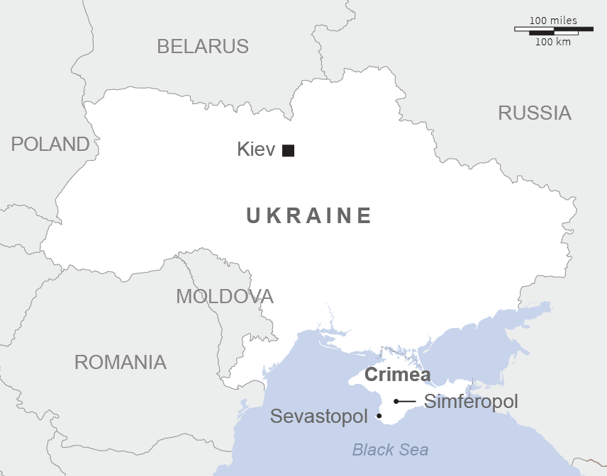 In Crimea Russia Signals Military Resolve With New And Revamped Bases - Crimea black sea map