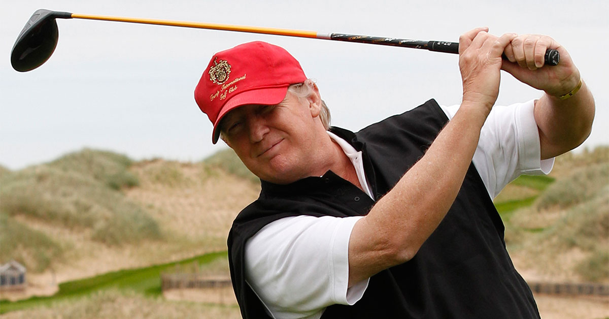 Is Trump struggling to find the green with his golf ...
