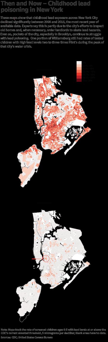 SPECIAL REPORT Despite Progress Lead Hazards Vex New York - Us map of lead in water