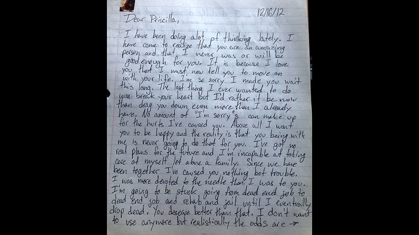 Letter To Loved One In Rehab