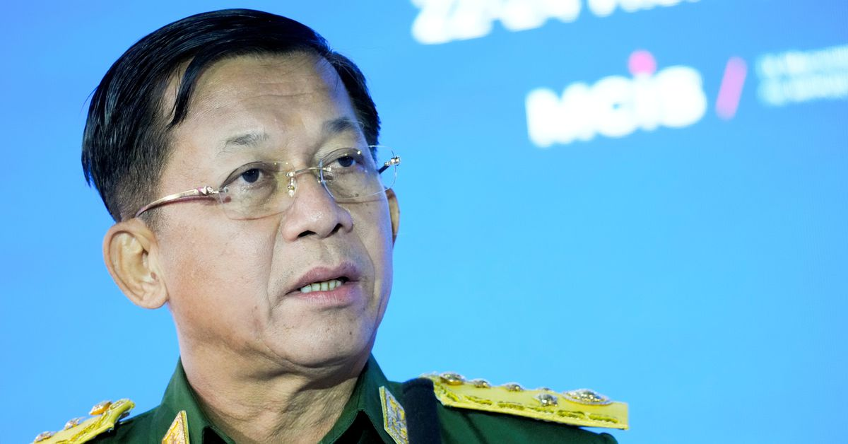 Myanmar army ruler pledges elections, ASEAN cooperation in speech six months after coup
