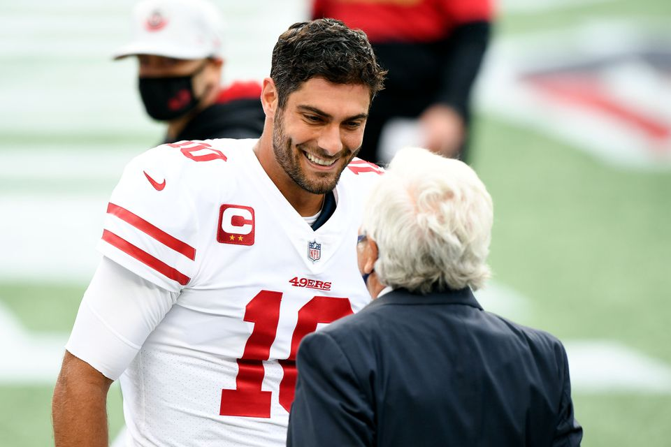 49ers Coach Kyle Shanahan Can't Guarantee Jimmy Garoppolo will be on Roster Sunday