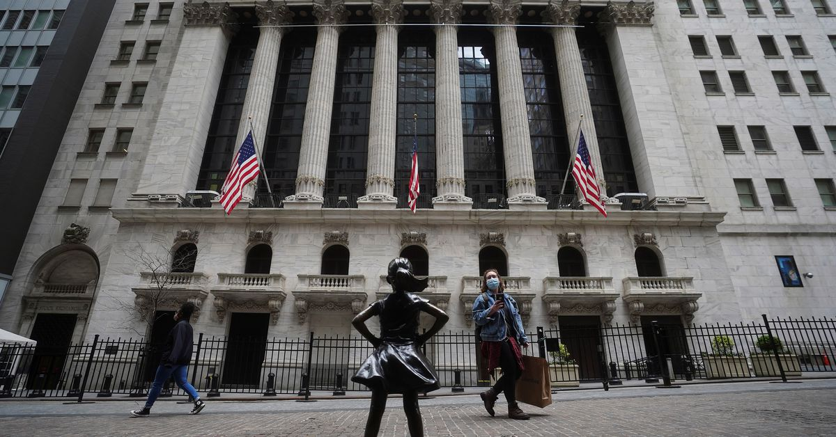 Wall Street falls on growth worries, Chinese tech crackdown