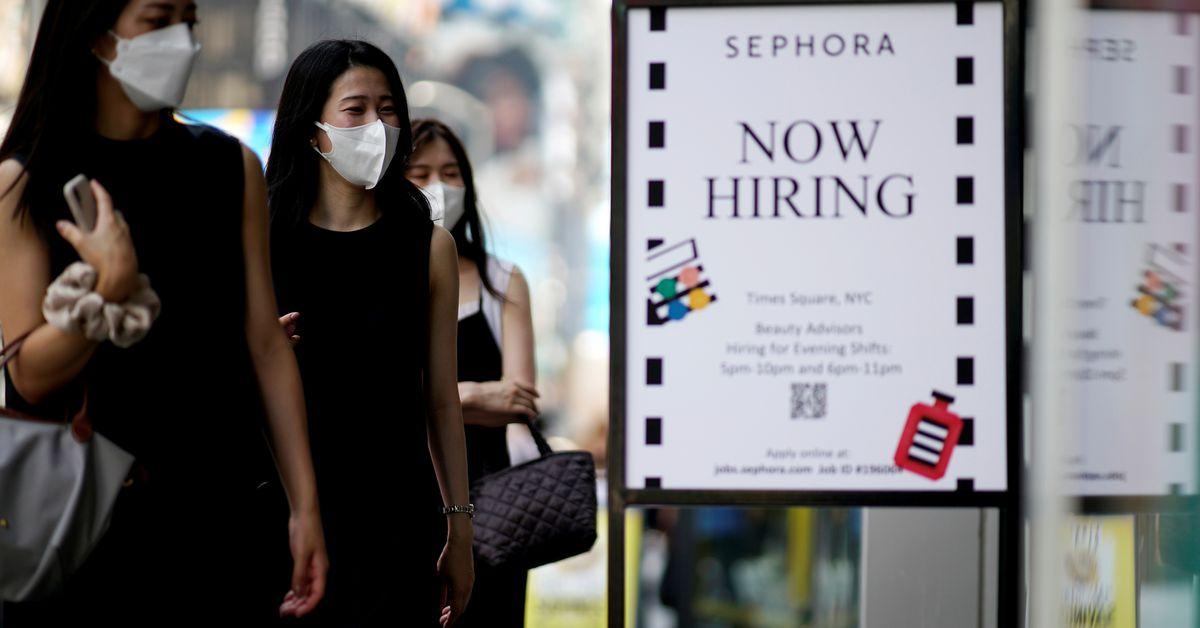 U.S. job growth seen picking up after Delta setback