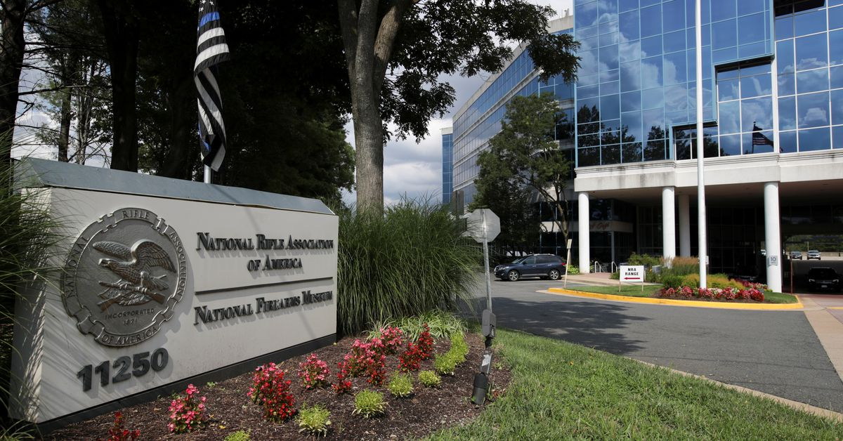 A general view shows the National Rifle Association (NRA) headquarters, in Fairfax, Virginia, U.S., August 6, 2020. REUTERS/Jonathan Ernst The company
