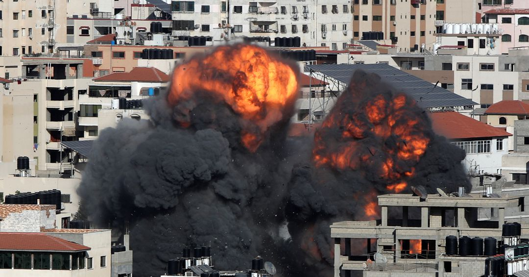 Gaza pounded by Israel