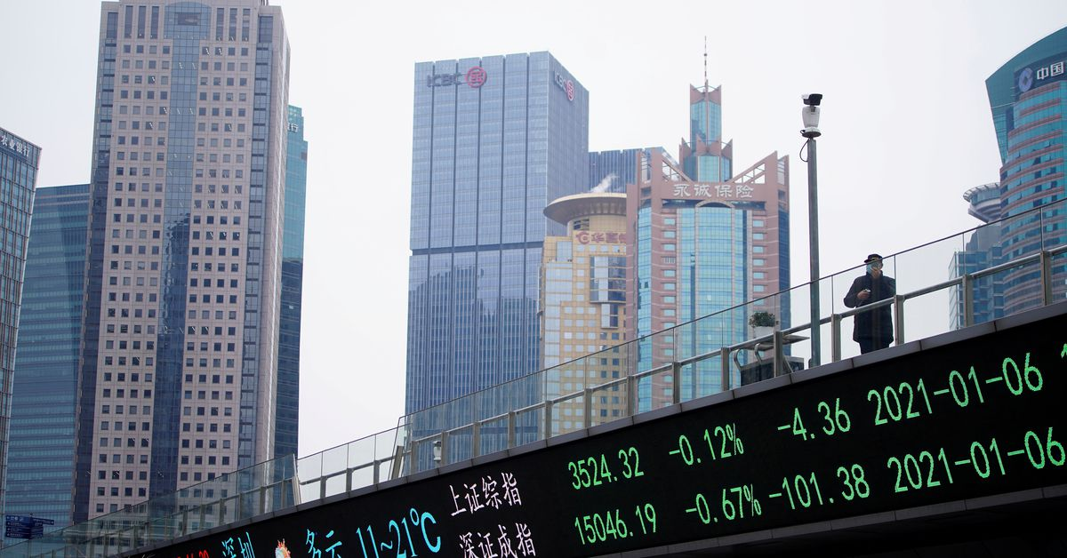 Asian shares up on China gains but tech worries weigh – Reuters