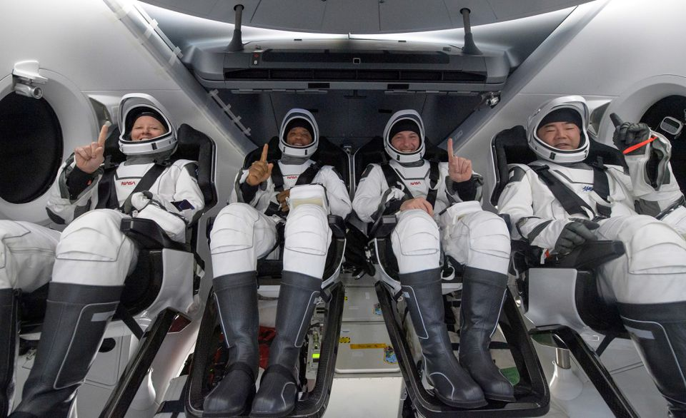 Four Astronauts Aboard SpaceX's Crew Dragon Capsule Return to Earth After Record-Setting Mission to International Space Station