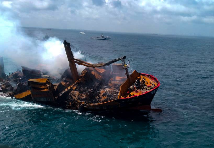 Sinking of Chemical-Laden Cargo Ship Off Coast of Sri Lanka Sparks Fears of Environmental Disaster