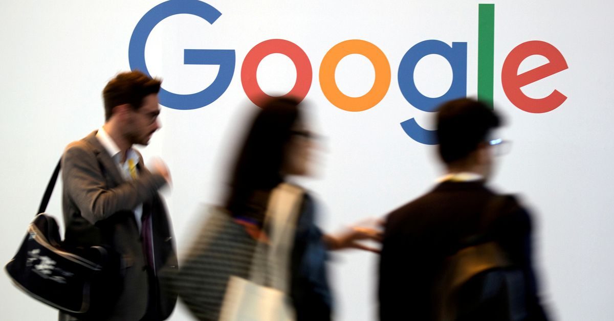 The logo of Google is pictured during the Viva Tech start-up and technology summit in Paris, France, May 25, 2018. REUTERS/Charles Platiau/File Photo