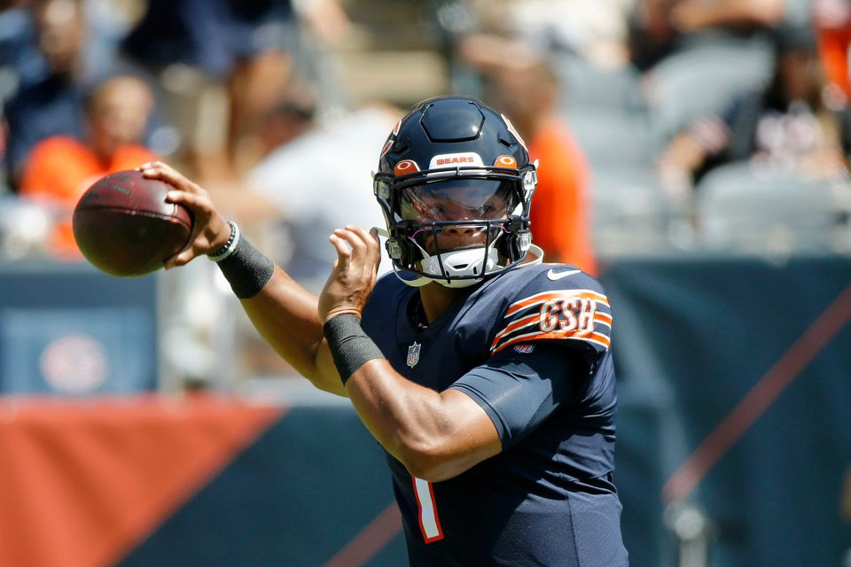 Chicago Bears Name Rookie Justin Fields Named Starter Over Andy Dalton