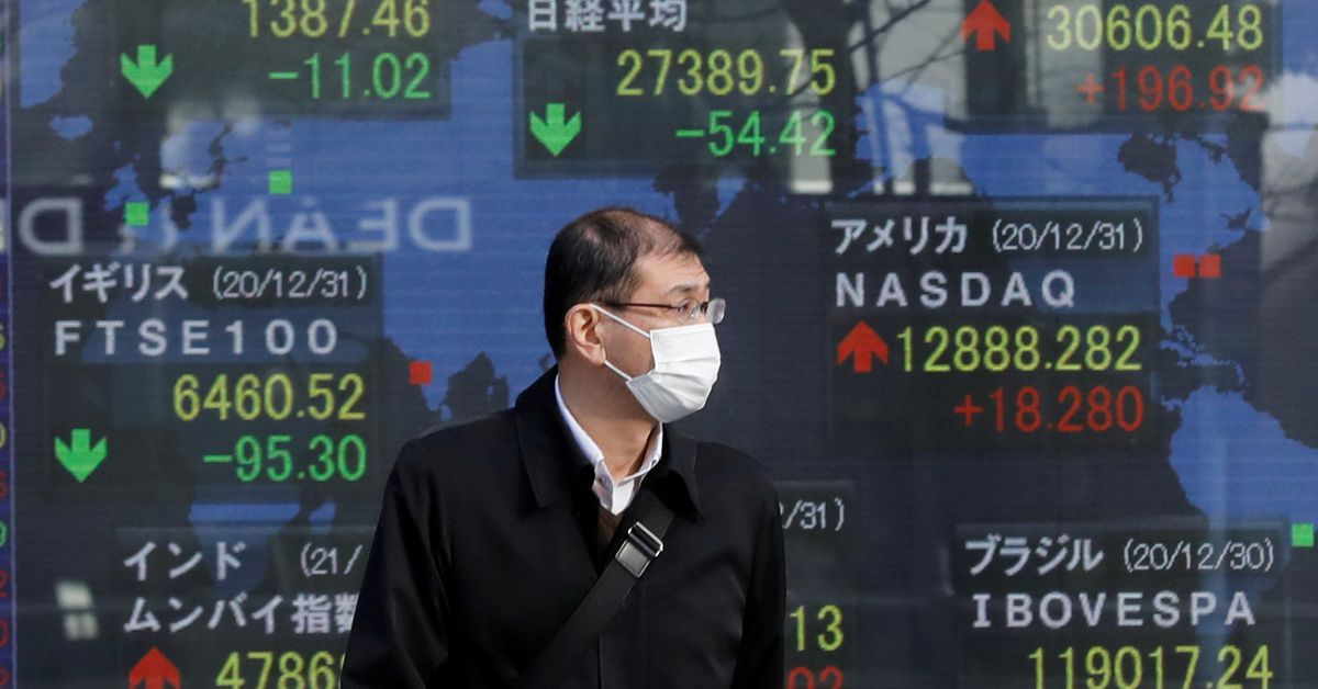World stocks set for 4th month of gains in data-heavy week