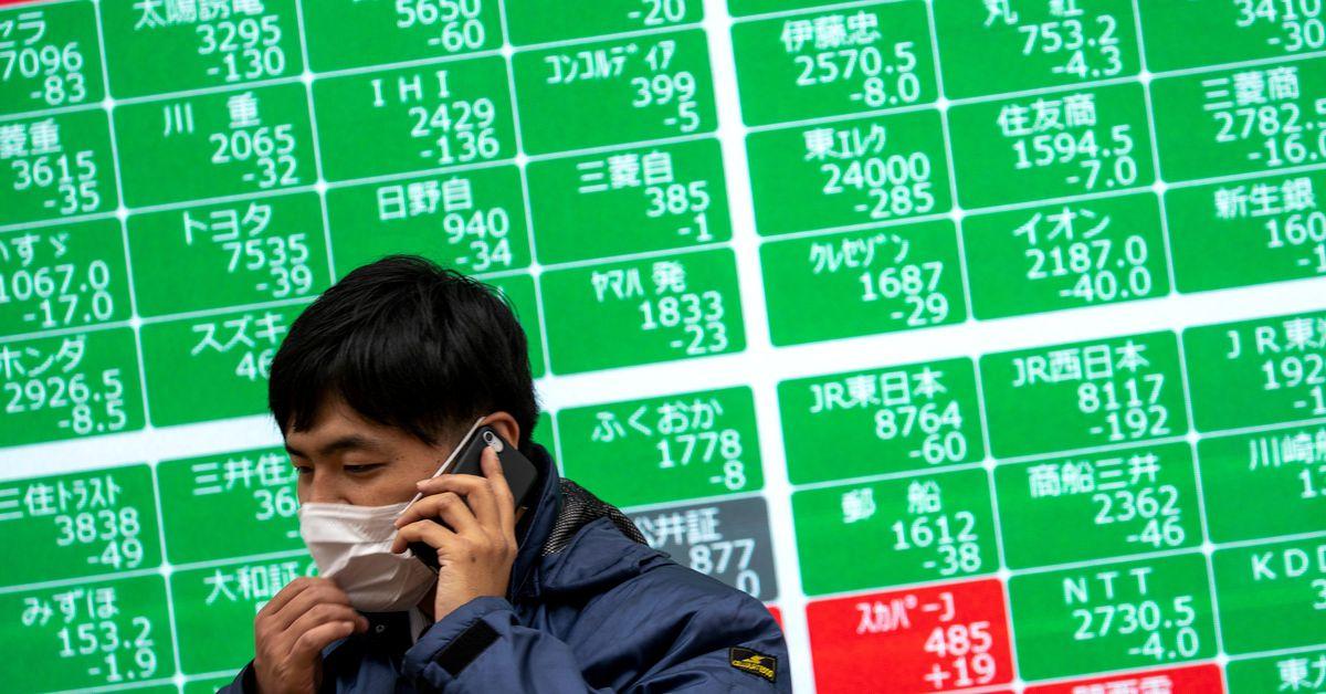 Asian shares steady, dollar weak as traders await earnings - Reuters
