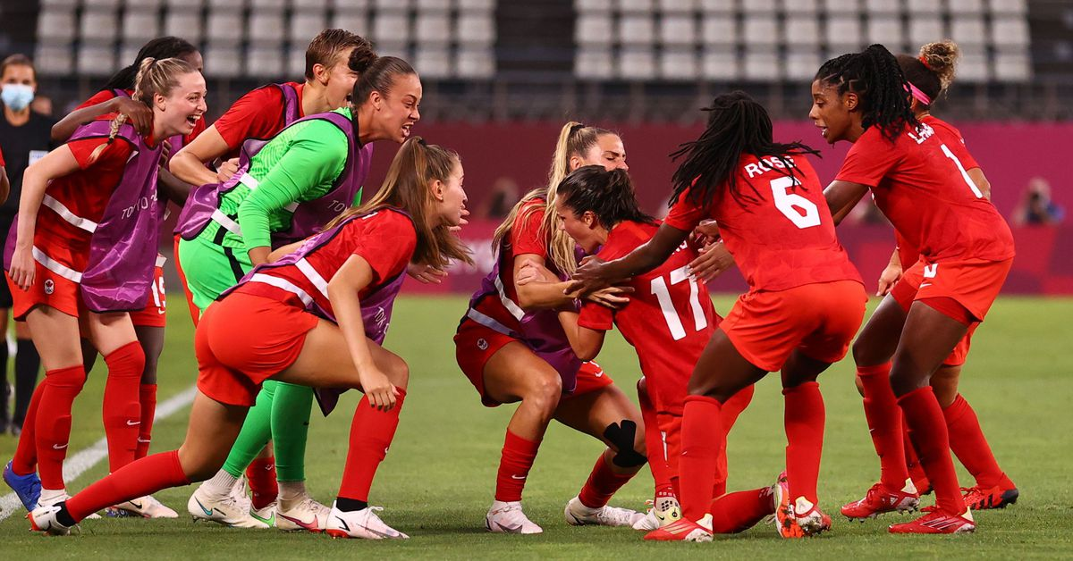 Soccer-Canada stun U.S. to set up final with Sweden