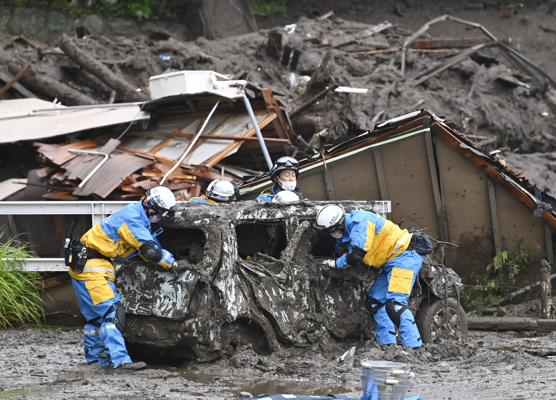 At Least 20 People Missing and Two Dead After Mudslide Wipes Out Homes in Japan's City of Atami
