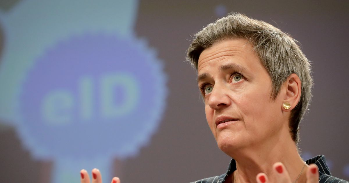 Executive Vice-President of the European Commission for a Europe fit for the Digital Age (Competition) Margrethe Vestager  gives a press conference at