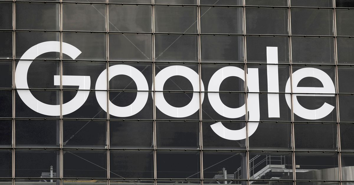 The logo of Google is seen on a building at La Defense business and financial district in Courbevoie near Paris, France, September 1, 2020.  REUTERS/C