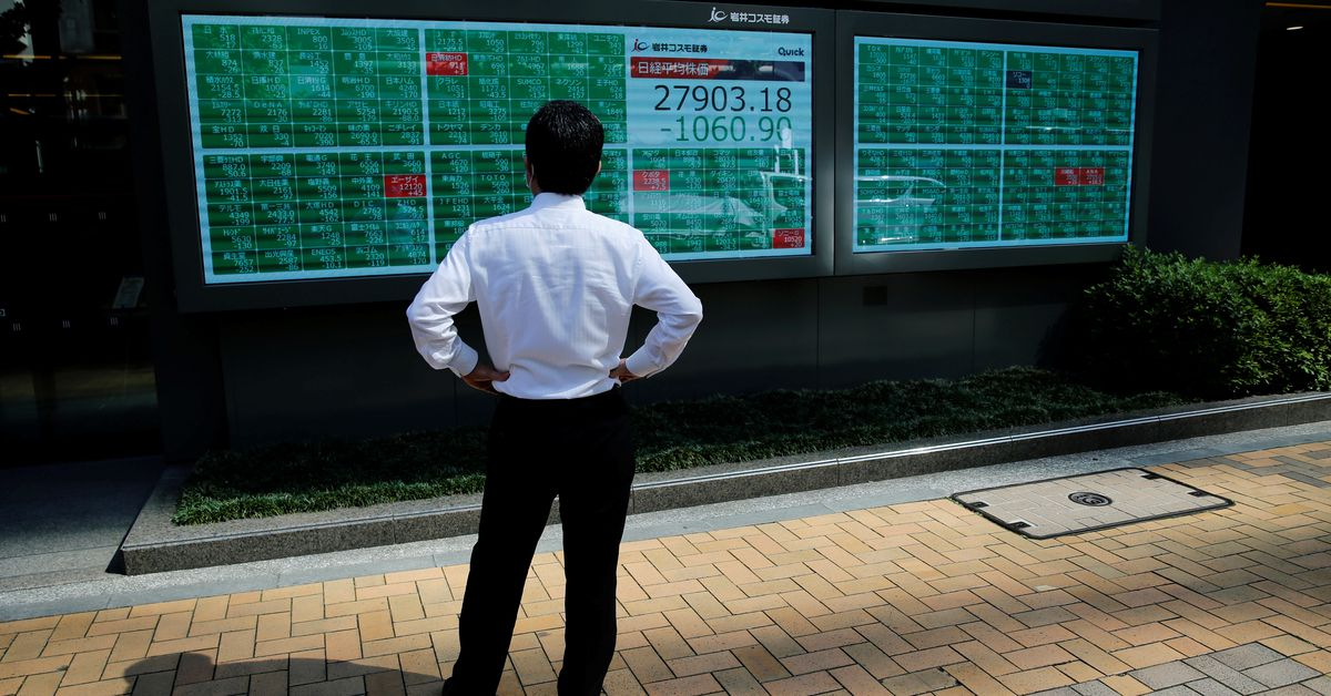 Asia shares ease on worries over China crackdown, COVID-19 spike