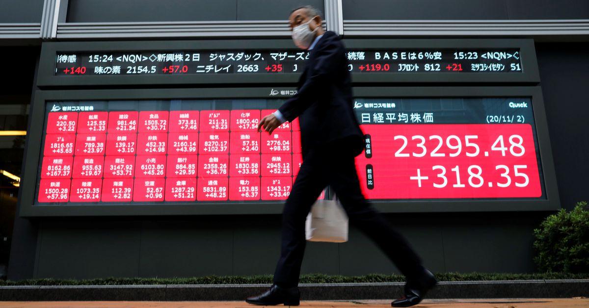 Asian stocks stumble as weak China data fan global growth worries – Reuters