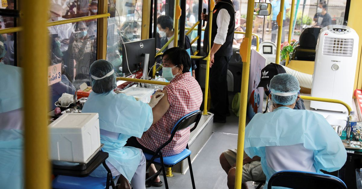 All aboard! Thai bus brings vaccines to Bangkok's vulnerable - Reuters