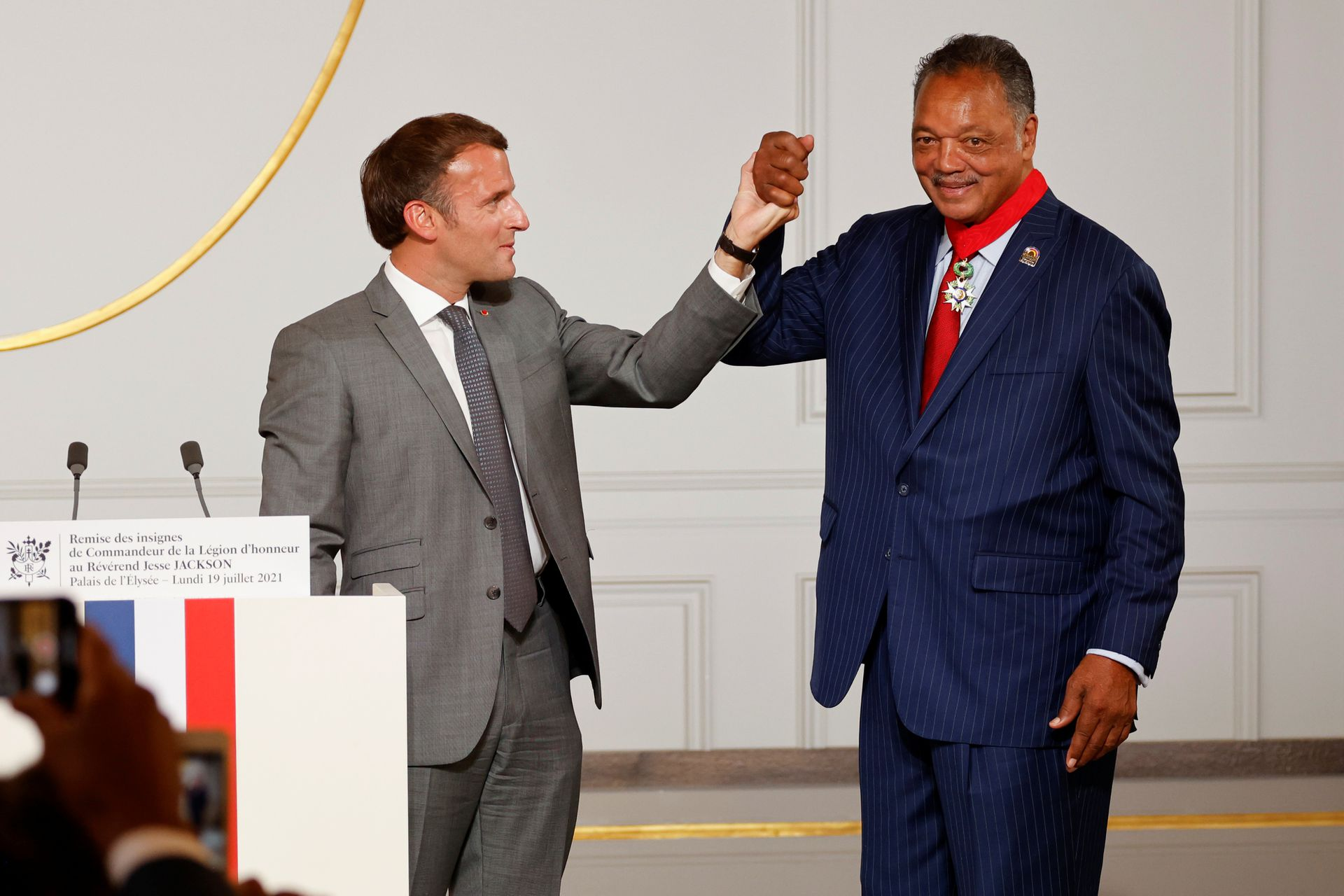 France Honors Jesse Jackson With Legion d'Honneur for 'Long Walk Towards Emancipation and Justice'