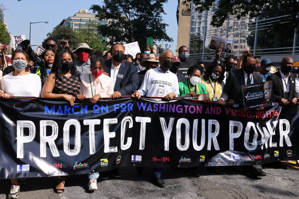 Thousands of Protestors March in Washington for Voting Rights