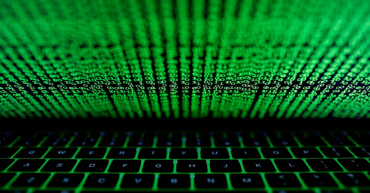 A computer keyboard lit by a displayed cyber code is seen in this illustration picture taken on March 1, 2017. REUTERS/Kacper Pempel/File Photo