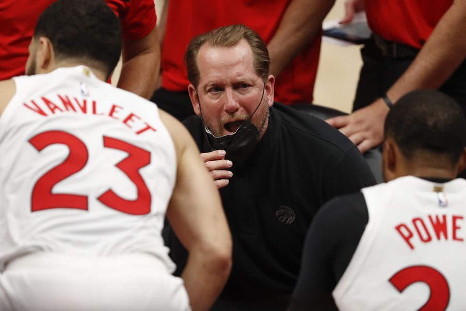 Raptors Head Coach Nick Nurse Fined K by NBA for Throwing Facemask