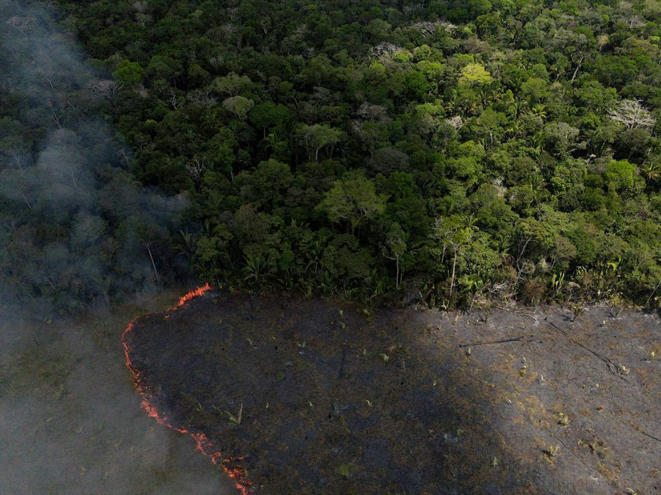 Amazon Fires Resurge in Brazil as Cleared forest burns