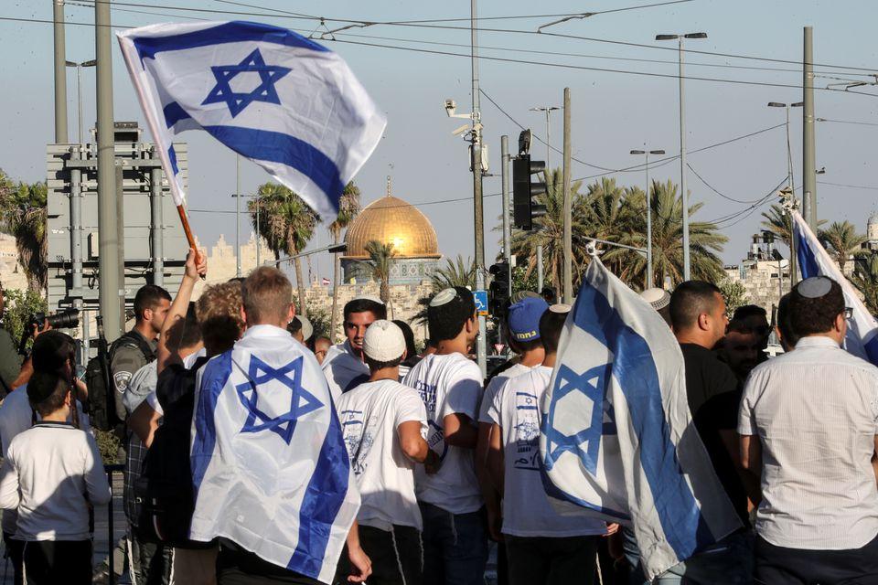 Israeli nationalists march in Jerusalem