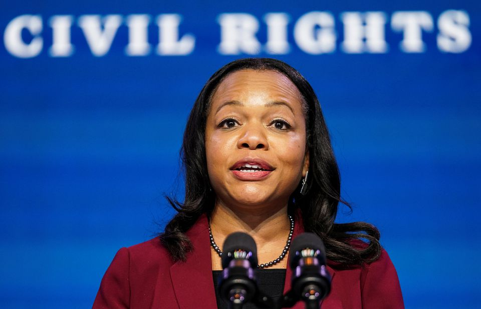 Senate Narrowly Advances Kristen Clarke, Biden's Nominee to Lead Justice Department's Civil Rights Division