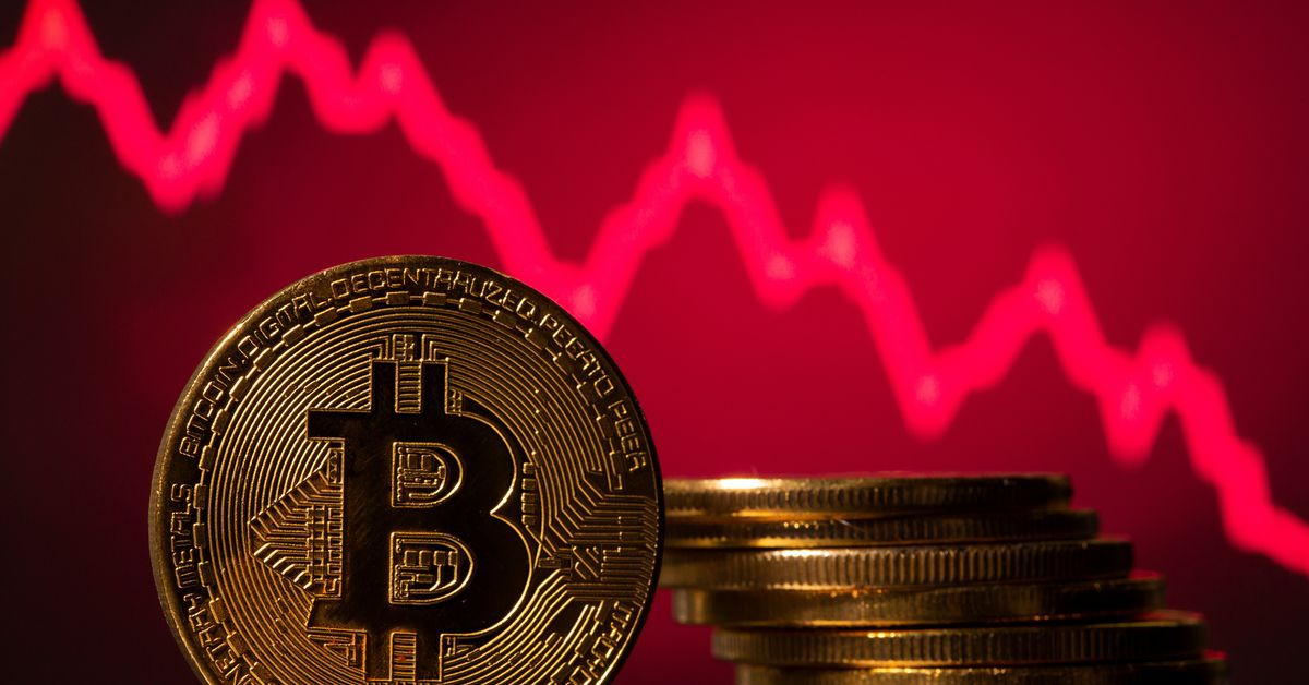 Bitcoin drops over 5% to $33226.36 - Reuters