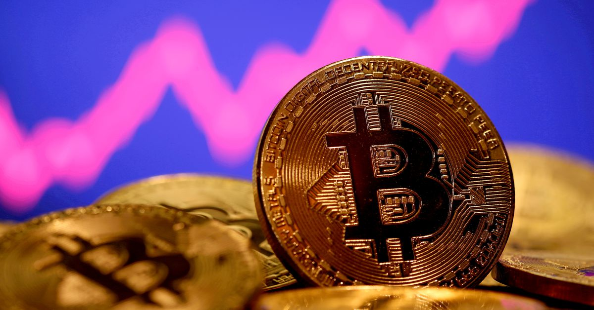 Bitcoin falls 5.2% to $33849 Ether down 6.3% – Reuters
