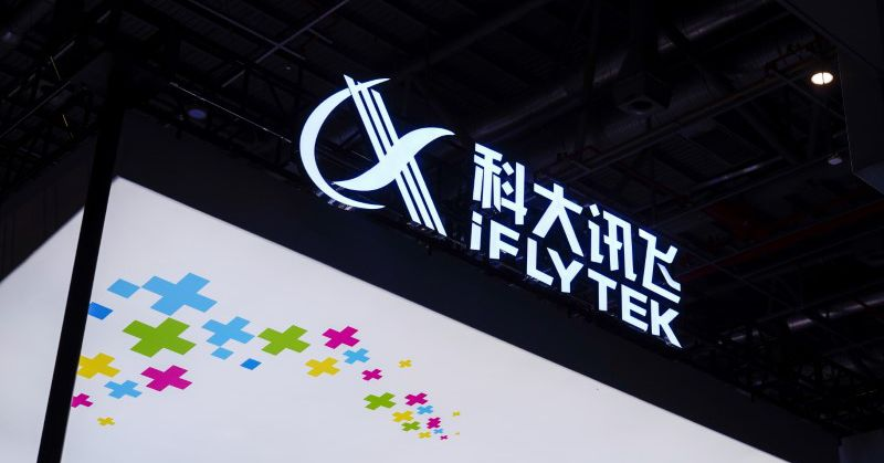 An iFlytek company sign is seen at the Appliance and Electronics World Expo (AWE) in Shanghai, China March 23, 2021.  REUTERS/Aly Song Chinese app sto