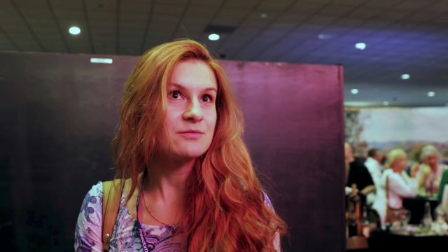 Accused Russian agent Maria Butina speaks to camera at 2015 FreedomFest conference in Las Vegas, Nevada, U.S., July 11, 2015 in this still image taken from a social media video obtained July 19, 2018. FreedomFest/via REUTERS